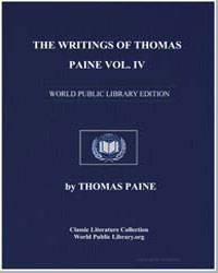 The Writings of Thomas Paine Volume Iv by Paine, Thomas