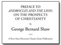 Preface to Androcles and the Lion: On th... by Shaw, George Bernard