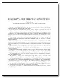 Is Reality a Side Effect of Randomness? by Gent, Charles