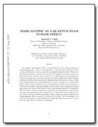 Dark Matter as a Quantum Foam In-Flow Ef... by Cahill, Reginald T.