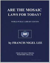 Are the Mosaic Laws for Today Observatio... by Lee, Francis Nigel, Dr.