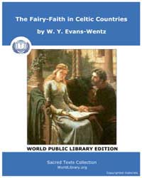The Fairy-Faith in Celtic Countries by Evans-Wentz, W. Y.