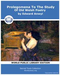 Prolegomena to the Study of Old Welsh Po... by Anwyl, Edward