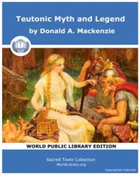 Teutonic Myth and Legend by Mackenzie, Donald A.
