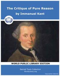 The Critique of Pure Reason by Kant, Immanuel