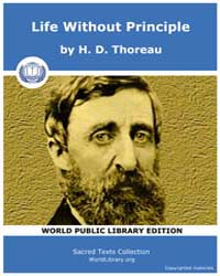 Life Without Principle by Thoreau, H. D.