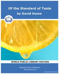 Of the Standard of Taste by Hume, David