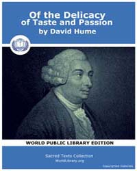 Of the Delicacy of Taste and Passion by Hume, David