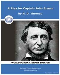 A Plea for Captain John Brown by Thoreau, H. D.