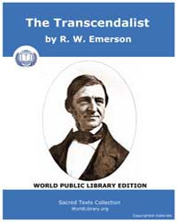 The Transcendalist by Emerson, R. W .