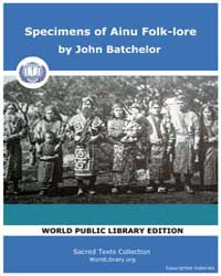 Specimens of Ainu Folk-Lore by Batchelor, John