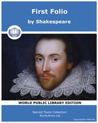 First Folio by Shakespeare