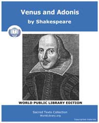 Venus and Adonis by Shakespeare