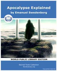 Apocalypse Explained by Swedenborg, Emanuel