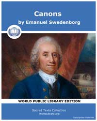 Canons by Swedenborg, Emanuel