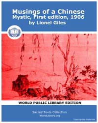 Musings of a Chinese Mystic, First editi... by Giles, Lionel