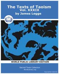 The Texts of Taoism, Vol. XXXIX Volume Vol. XXXIX by Legge, James