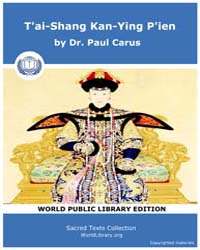 T'ai-Shang Kan-Ying P'ien by Carus, Dr. Paul