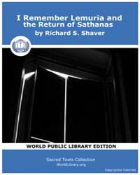 I Remember Lemuria and the Return of Sat... by Shaver, Richard S.