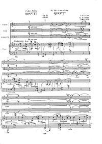 Piano Quartet, Op.31 : I. Moderato - pia... Volume Op.31 by Catoire, Georgy
