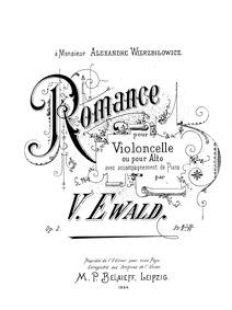 Romance (Romance pour Violoncello ou pou... Volume Op.2 by Ewald, Victor