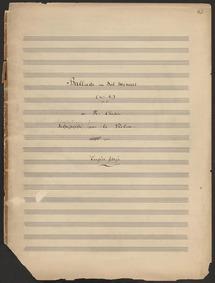 Ballade No.1, Op.23 : Piano Score Volume Op.23 by Chopin, Frédéric
