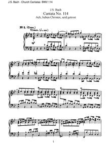 Ach, lieben Christen, seid getrost (AH, ... Volume BWV 114 by Bach, Johann Sebastian