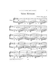 Valse rêveuse, Op.19 : Complete Score Volume Op.19 by Castro, Ricardo