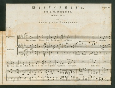 Merkenstein, WoO 144 : Complete Score by Beethoven, Ludwig van