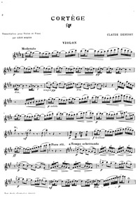 Petite suite : Violin Part Volume CD 71 ; L.65 by Debussy, Claude
