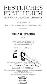 Festliches Präludium, Op.61 : Complete S... Volume Op.61 ; TrV 229 by Strauss, Richard