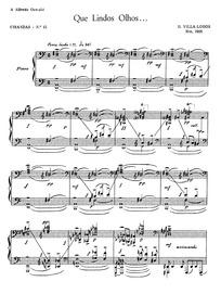 Cirandas, W220 : 15. Que lindos olhos Volume W220 by Villa-Lobos, Heitor