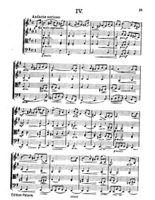 String Quartet No.4 in E minor, Op.42 : ... Volume Op.42 by Straesser, Ewald