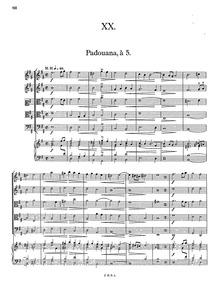 Banchetto musicale : Suite XX by Schein, Johann Hermann