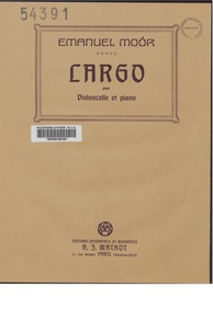 Largo for Cello and Orchestra, Op.105 : ... Volume Op.105 by Moór, Emanuel