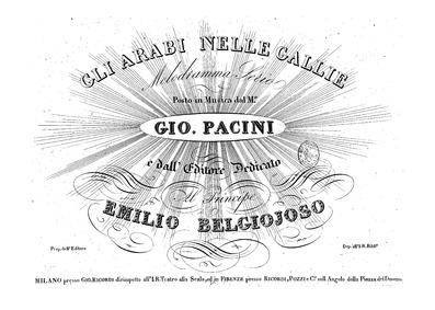 Gli arabi nelle Galli (Il trionfo della ... by Pacini, Giovanni