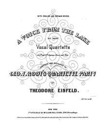 A Voice from the Lake (Die Nacht. Vocal ... by Eisfeld, Theodor