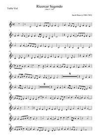 Ricercar Segondo, Libro 1 : Treble Viol ... by Buus, Jacques