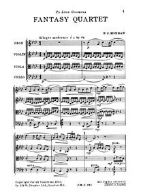 Fantasy Quartet : Complete Score by Moeran, Ernest John
