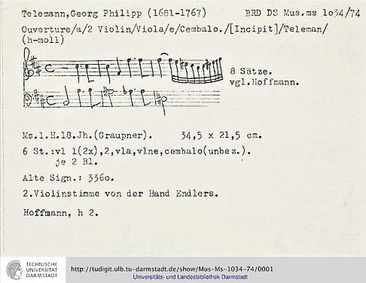 Ouverture-Suite, TWV 55:h2 : Complete Pa... Volume TWV 55:h2 by Telemann, Georg Philipp