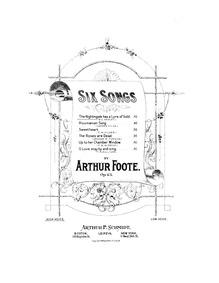 6 Songs, Op.43 : No.1: The Nightingale h... Volume Op.43 by Foote, Arthur