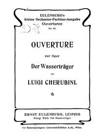 Les deux journées (Le porteur d'eau, Der... by Cherubini, Luigi