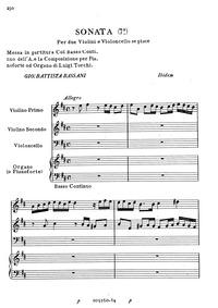 Sonata 7a per due Violini e Violoncello ... by Bassani, Giovanni Battista