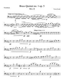 Quintet No.1, Op.5 (Brass Quintet No.1, ... Volume Op.5 by Ewald, Victor