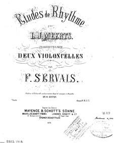 Etudes de Rhythme (Übung im Rhythmus der... by Meerts, Lambert Joseph