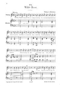 Rosenlieder : No.2 - Wilde Rose by Eulenburg, Philipp zu