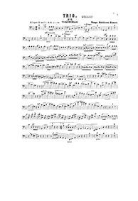 Piano Trio No.2 : Cello part by Matthison-Hansen, Waage