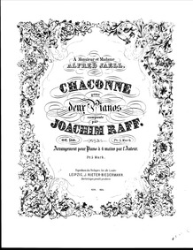 Chaconne for 2 Pianos, Op.150 : Complete... Volume Op.150 by Raff, Joachim