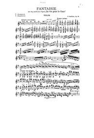 Fantaisie sur des motifs de l'opéra 'La ... Volume Op.16 by Ondříček, František