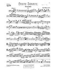 Bass Sonata No.1 (Erste sonate: A-dur fü... Volume Op.5 by Mišek, Adolf